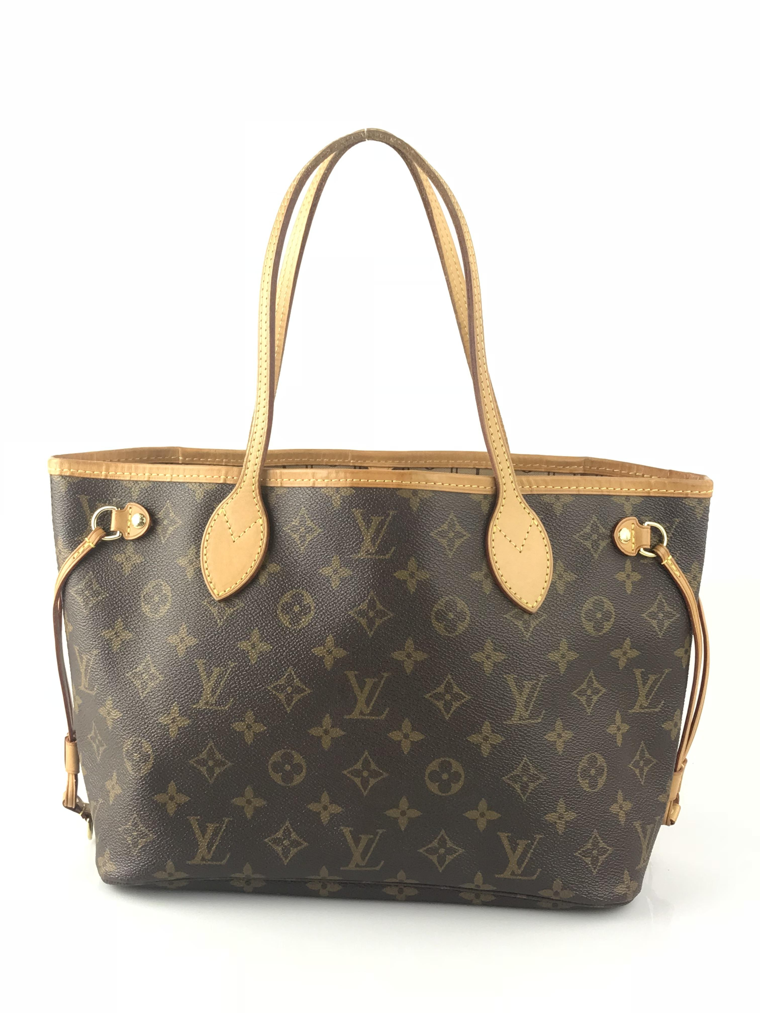 louis vuitton neverfull tote. louis vuitton neverfull leather canvas tote in monogram a