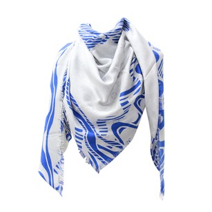 Louis Vuitton New Authentic LV Cobalt Blue Monogram Almazing Shawl & Wrap M75829