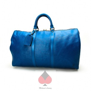 Louis Vuitton Overnight Travel Blue (Guaranteed Authentic) Travel Bag