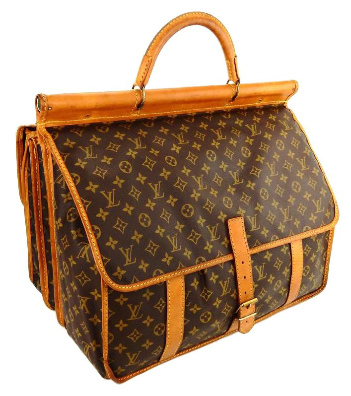 Louis Vuitton Vintage Weekender Bag In Brown Monogram Canvas 1Ll2o9x