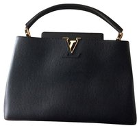 Louis Vuitton Satchel in Black W Gold