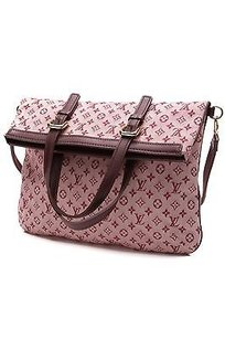 Louis Vuitton Mini Lin Canvas Francoise Satchel in Cherry (Pinkish-red)