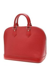 Louis Vuitton Epi Leather Alma Pm Satchel in Red