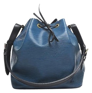 Louis Vuitton Blue And Black Shoulder Bag