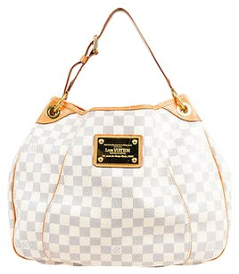 Louis Vuitton Cream Navy Coated Canvas Damier Azur Galliera Pm Shoulder Bag