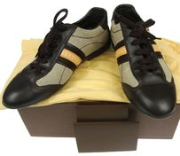 Louis Vuitton Sneakers Canvas Leather Dark Brown Boots