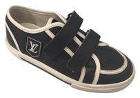 Louis Vuitton Sneakers Kids Children Black Flats