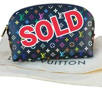 Louis Vuitton Sold Out Louis Vuitton Multicolor Noir Cosmetic Pouch, MIF!