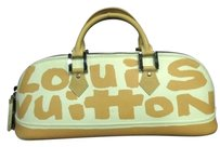 Louis Vuitton Stephen Sprouse Sprouse Graffiti Roses Limited Edition Satchel in White Beige