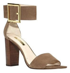 Louise et Cie Tova Ankle Cuff Block Heel NEVADA WAXED NUBUCK Sandals