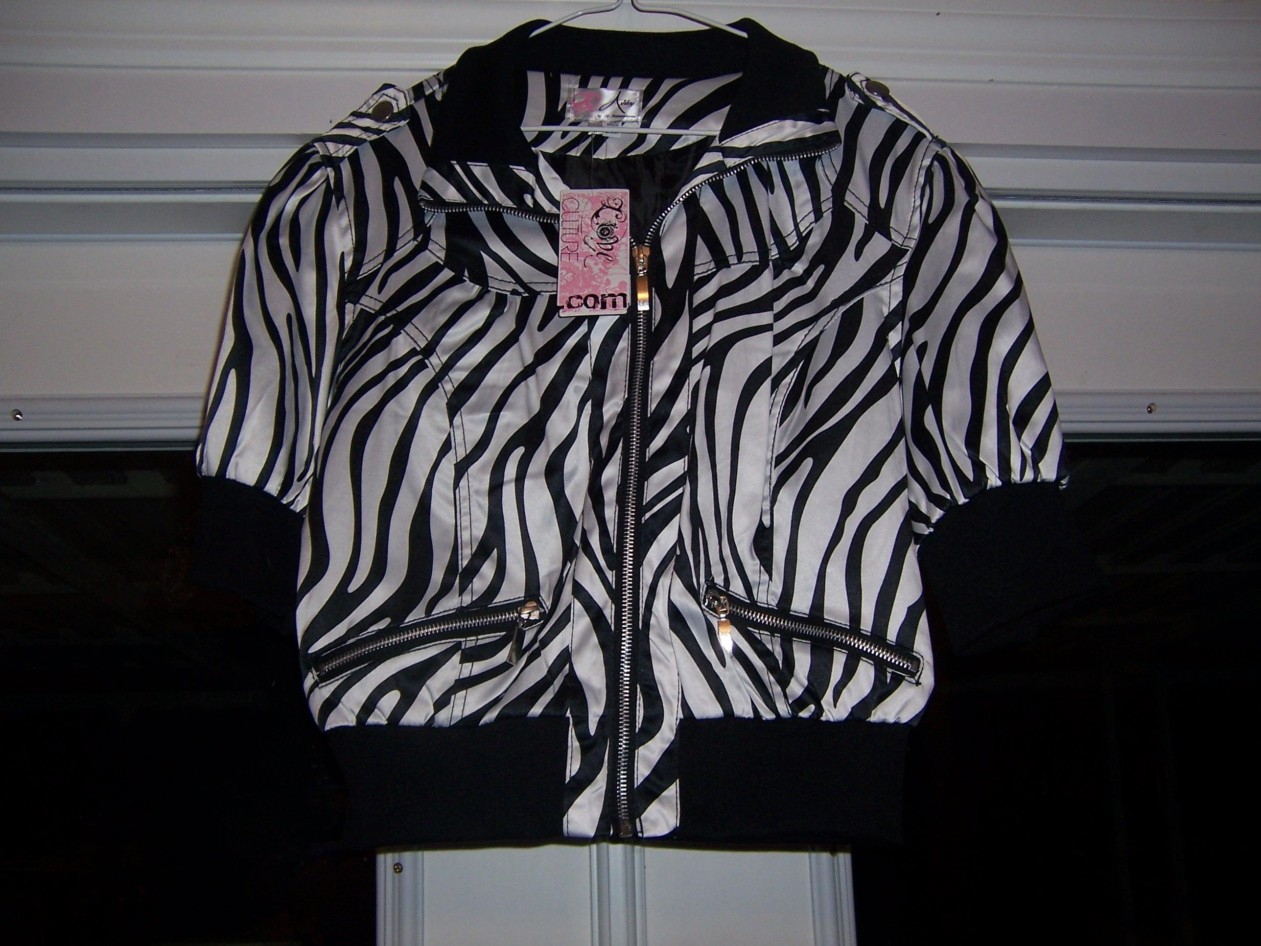 Love Culture Black and White New Animal Print Satin