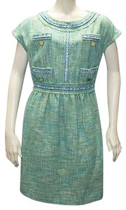Love Moschino Cotton Blend Tweed Short Sleeve Sheath Hs1300 Dress