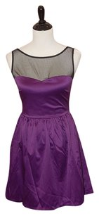 Love Ady Illusion Purple Dress