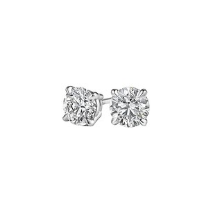 LoveBrightJewelry 14K White Gold Natural Diamond Stud Earrings Jewelry