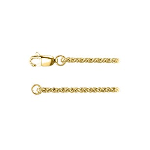 LoveBrightJewelry 1.75mm Rope Chain Necklace in 18K Yellow Gold Vermeil