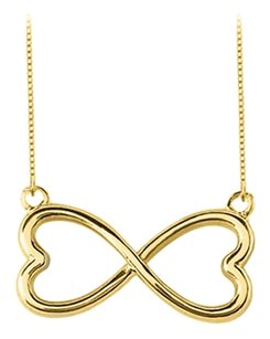 LoveBrightJewelry 18K Yellow Gold Vermeil in Sterling Silver Heart Infinity Pendant Necklace