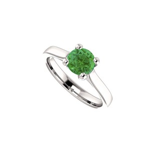 LoveBrightJewelry May Birthstone Created Emerald Engagement Ring