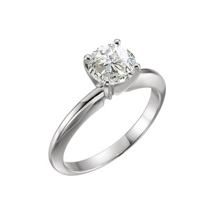 LoveBrightJewelry 1 Carat Certified Diamond Solitaire Engagement Ring In 14k White Gold