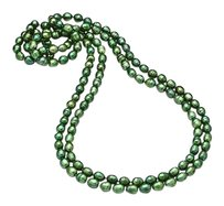 LoveBrightJewelry 80 Inches Strand Necklace of Green Freshwater Cultured Pearl 8.5MM