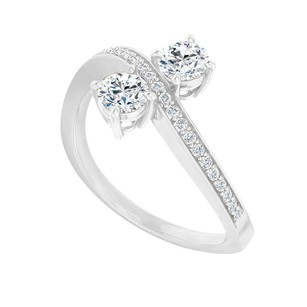LoveBrightJewelry Above 2.00 Carat Cubic Zirconia Engagement Ring Silver