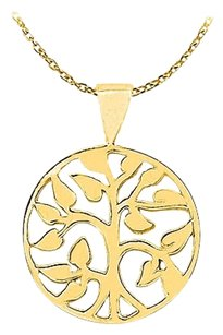 LoveBrightJewelry Amazingly Designed 18K Yellow Gold Vermeil Floral Circle Pendant with a Free 16 Inch Chain