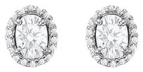 LoveBrightJewelry April Birthstone Cubic Zirconia Halo Stud Earrings 18kt Gold Over Sterling Silver 6.00 CT TGW