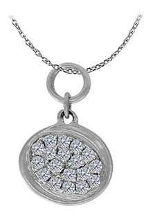 LoveBrightJewelry Beautiful and Priceless Diamond Pendant 14K White Gold