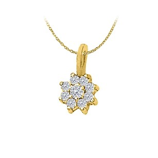 LoveBrightJewelry Conflict Free Diamond Pendant in 14K Yellow Gold