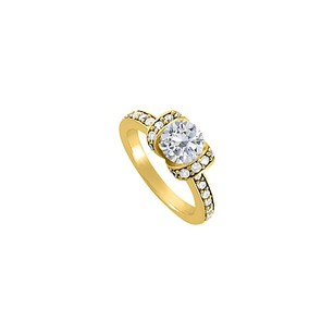 LoveBrightJewelry Cubic Zirconia Engagement Ring In 18k Yellow Gold Vermeil Reasonable Price With Best Design