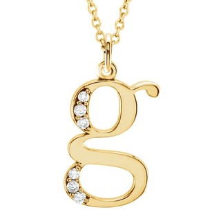 LoveBrightJewelry Cubic Zirconia G Initial Pendant In Yellow Gold Vermeil Best Design At Reasonable Price Range