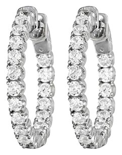 LoveBrightJewelry Cubic Zirconia Hoop Earrings for Women Inside Out 3.50 CT TGW