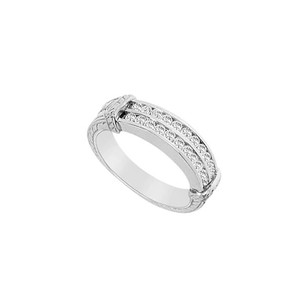 LoveBrightJewelry Cubic Zirconia Wedding Band Sterling Silver 0.66 Ct Czs