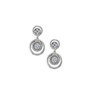 LoveBrightJewelry Cz Fleur-de-lis Symbol Shaped Earrings In 14k White Gold 0.25 Ct Tgwperfect Jewelry Gift