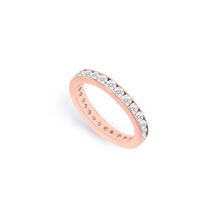 LoveBrightJewelry Diamond Eternity Bands In 14k Rose Gold 0.75 Ct Tdw First And Second Wedding Anniversary Gift