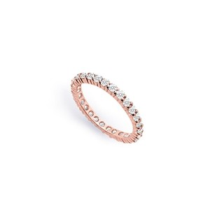 LoveBrightJewelry Diamond Eternity Bands In 14k Rose Gold 0.75 Ct Tdw First Wedding Anniversary Jewelry