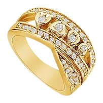 LoveBrightJewelry Diamond Ring 14K Yellow Gold 0.50 CT Diamonds