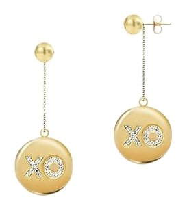 LoveBrightJewelry Diamond X-O Earrings 14K Yellow Gold 0.50 CT Diamonds