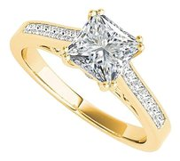 LoveBrightJewelry Elite Special Princess Cut CZ Engagement Ring Vermeil