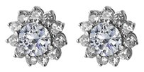 LoveBrightJewelry Fab Pair of Cubic Zirconia Earrings 14K White Gold