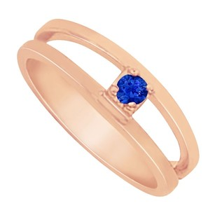 LoveBrightJewelry Fabulous Jewelry Sapphire Mother Ring in 14K Rose Gold