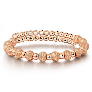 LoveBrightJewelry Fashion Elegant Beads Women Bracelet Rose Gold Vermeil