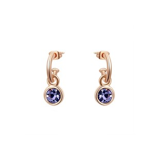 LoveBrightJewelry Fashion Rose Gold Vermeil Purple Hue Earrings Jewelry