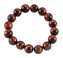 LoveBrightJewelry Genuine Red Tiger Eye Stretch Bracelet 12.00 X 12.00 MM with 6.50 INCH