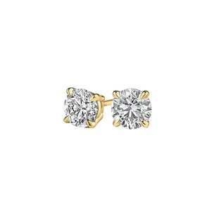 LoveBrightJewelry Gift Classic Natural Diamond Stud Earrings in 14K Gold