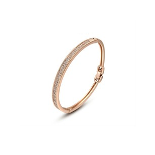 LoveBrightJewelry High End Sparkling Gemstone Bracelet Rose Gold Vermeil