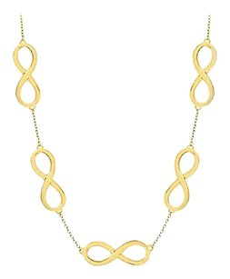 LoveBrightJewelry Infinity Link Necklace with 18K Yellow Gold Vermeil in Sterling Silver 17 Inch Necklace