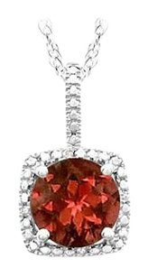 LoveBrightJewelry January Birthstone Garnet and Diamond Pendant in 925 Sterling Silver 1.50 CT TGW