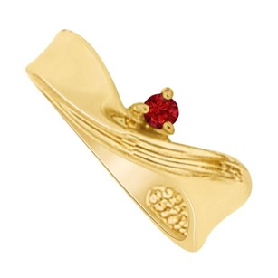 LoveBrightJewelry July Birthstone Ruby Mother Ring in 14K Yellow Gold