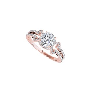 LoveBrightJewelry Natural Diamond Split Shank Ring In 14k Rose Gold