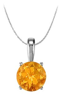 LoveBrightJewelry November Birthstone Citrine Pendant in 925 Sterling Silver 1.00 CT TGW